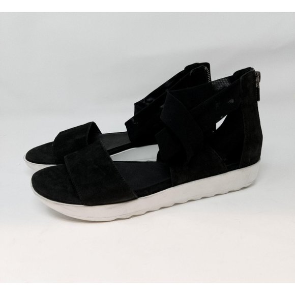 Eileen Fisher Sport Platform Sandal in Black sz 8